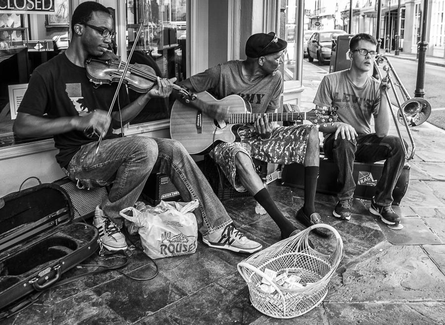 Sreet musician in  Canal st.