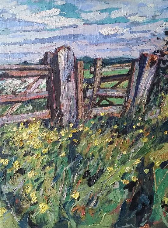 Gatepost and verge