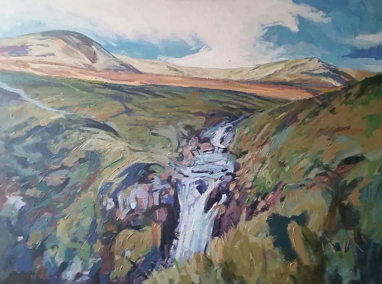 Above the Grey Mare's Tail