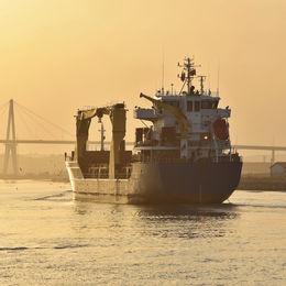 Cargo ship Figueira da Foz Portugal