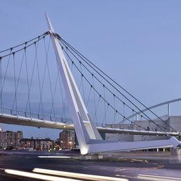 Pedestrian Bridge Zaragoza Spain