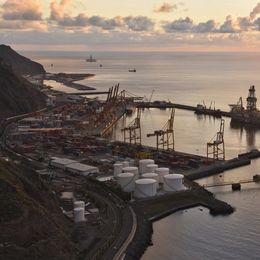 Commercial Port Tenerife Canary Islands