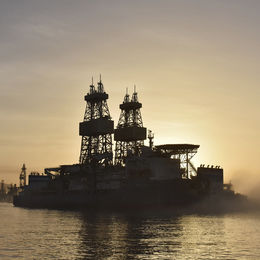 Oil Rig Platform Tenerife Canary Islands
