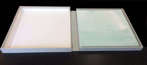 Book in lay-flat case