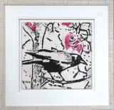Crow And Magnolia Blossom - Framed