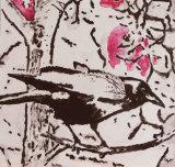 Crow And Magnolia Blossom