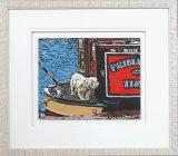 Dog On A Narrow Boat - Framed