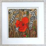 Poppy In The Corn - Framed