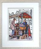 The Chestnut Seller - Framed