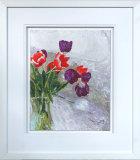 Tulips in A Vase - Framed
