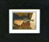 WWI Uniform - Framed Aceo size painting