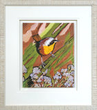 Yellow Throated Warbler - Framed