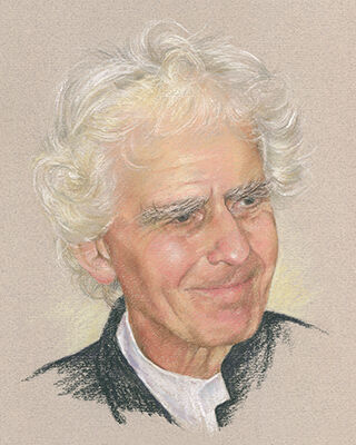 pastel portrait drawing of a man