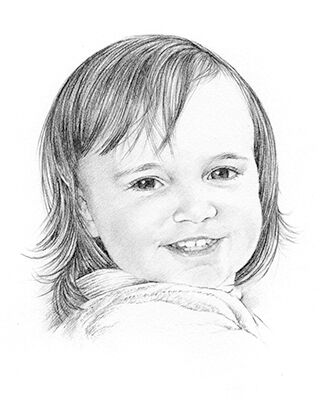 pencil drawing of a child