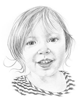 pencil drawing of a girl
