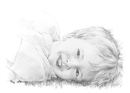 Pencil drawing of a boy