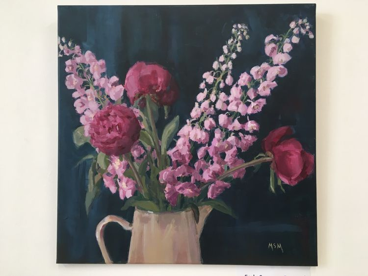 July 7th Summer Flowers £55 FULL 10am-4pm The joy of painting flowers, how I love them. You will be painting in acrylics, all materials will be provided....you bring along your flowers I will show you how to render luscious petals in a brushstroke, mix glorious colours, arrange a pleasing composition. All levels welcome