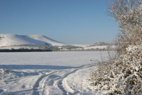 Snow on The Firle Shoulder 1