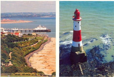 Eastbourne Bay & Beachy Head Lighthouse: East Sussex