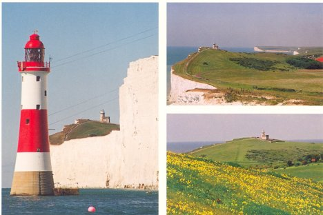 Views of Belle Toute & Beachy Head Lighthouses: East Sussex