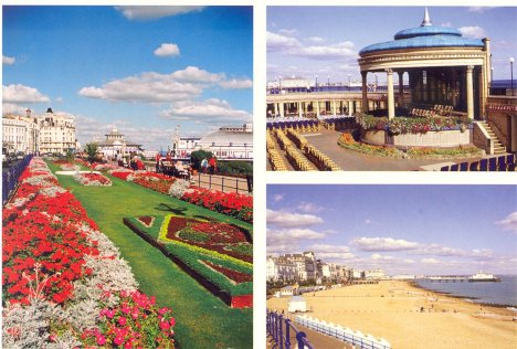 Eastbourne Band Stand, Summer Gardens & Beach: East Sussex