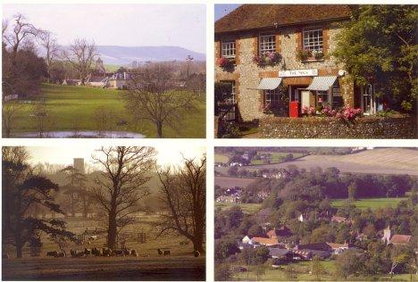 Firle Estate, Village & PO: East Sussex