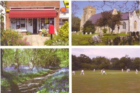 Scenes in Laughton: East Sussex