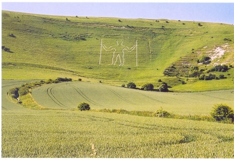 the Long Man of Wilmington: East Sussex