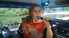 Performing on the Thames on a party boat