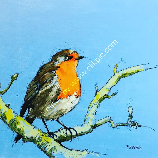 'Mr Robin' - SOLD at the Hampshire Open Studios