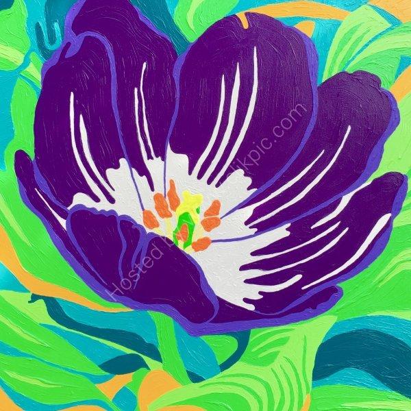 'Purple Tulip'