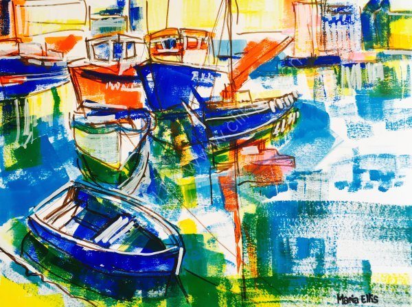 SOLD - 'Little blue rowing boat'