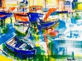 'Little blue rowing boat'