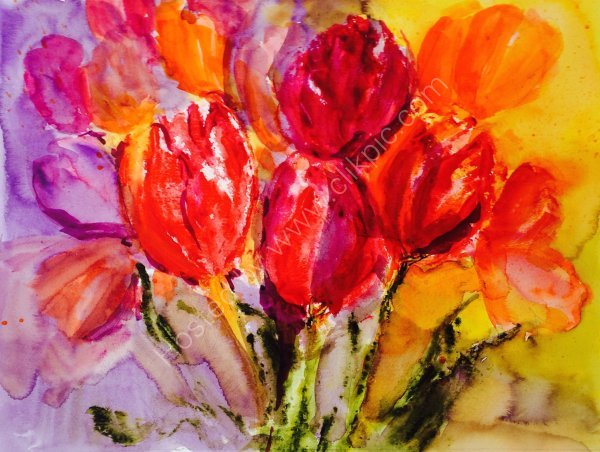 Bright Tulips - SOLD