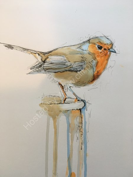 'Bobby' the Christmas robin - SOLD