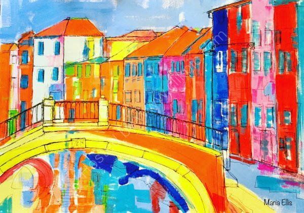 'Over the bridge at Burano'
