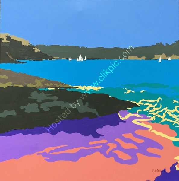 Looking to sea from Mill Bay beach, Salcombe