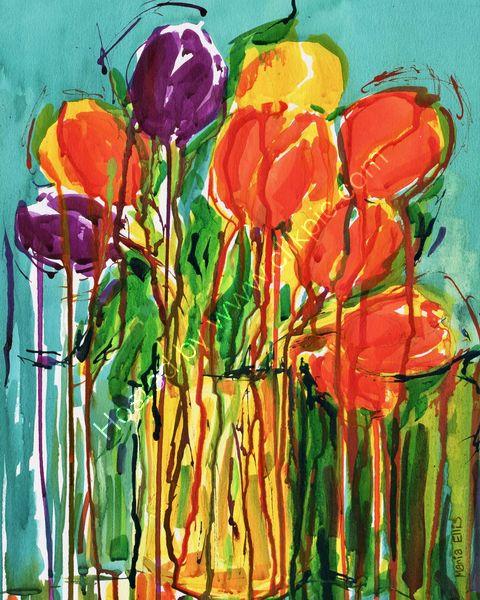 'Vibrant Tulips'