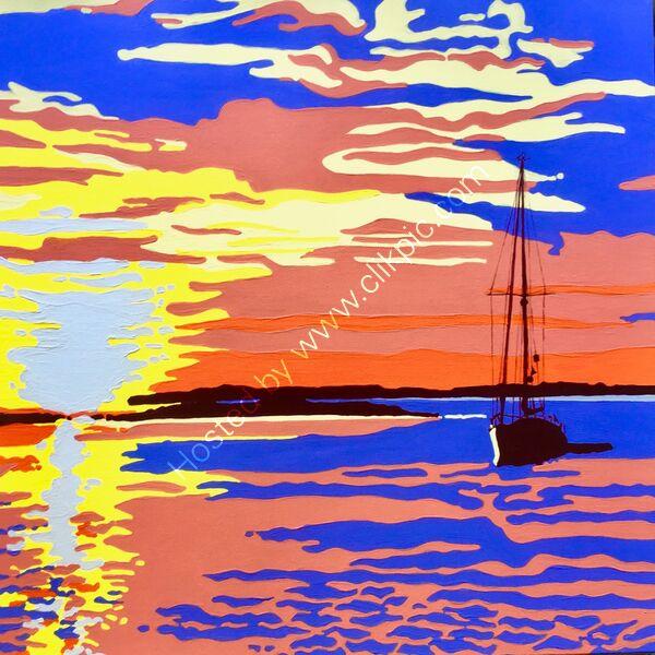 'Sunset in Newtown Creek'