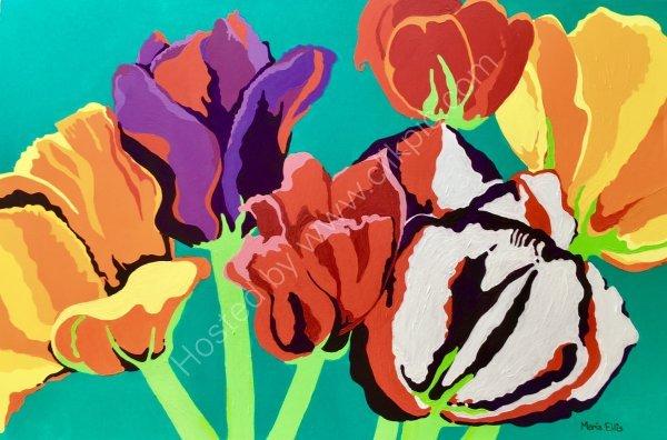 Dazzling Tulips