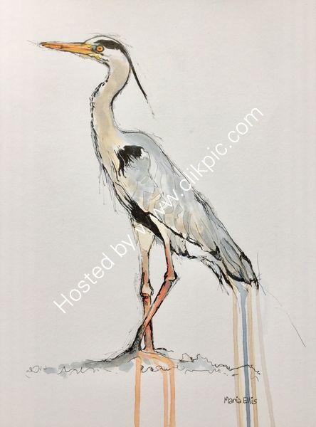 Grey Heron - Sold