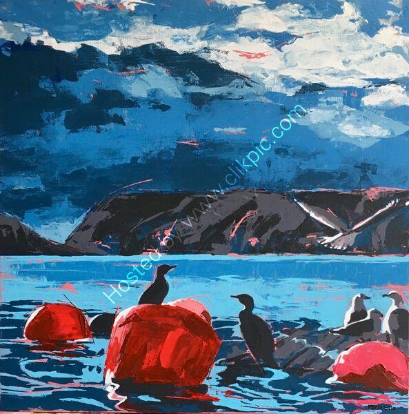 'Buoys and gulls & a couple of cormorants'