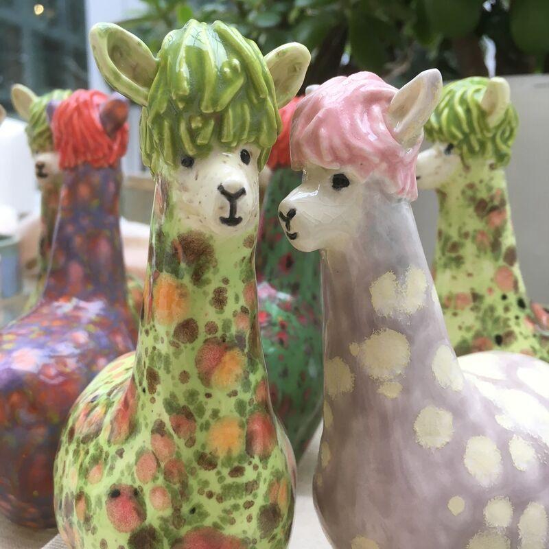 Ceramic Alpacas