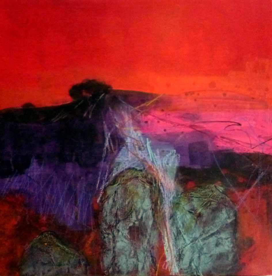 Red Dawn over Stones