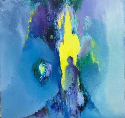 Passing through. Oil on canvas. 30x30cm