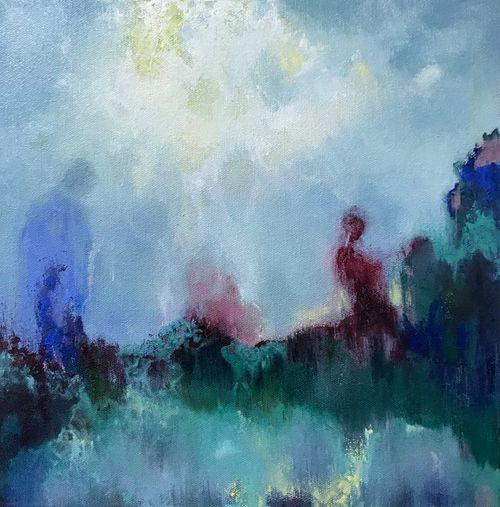 Shadows. Oil on canvas. 30x30cm