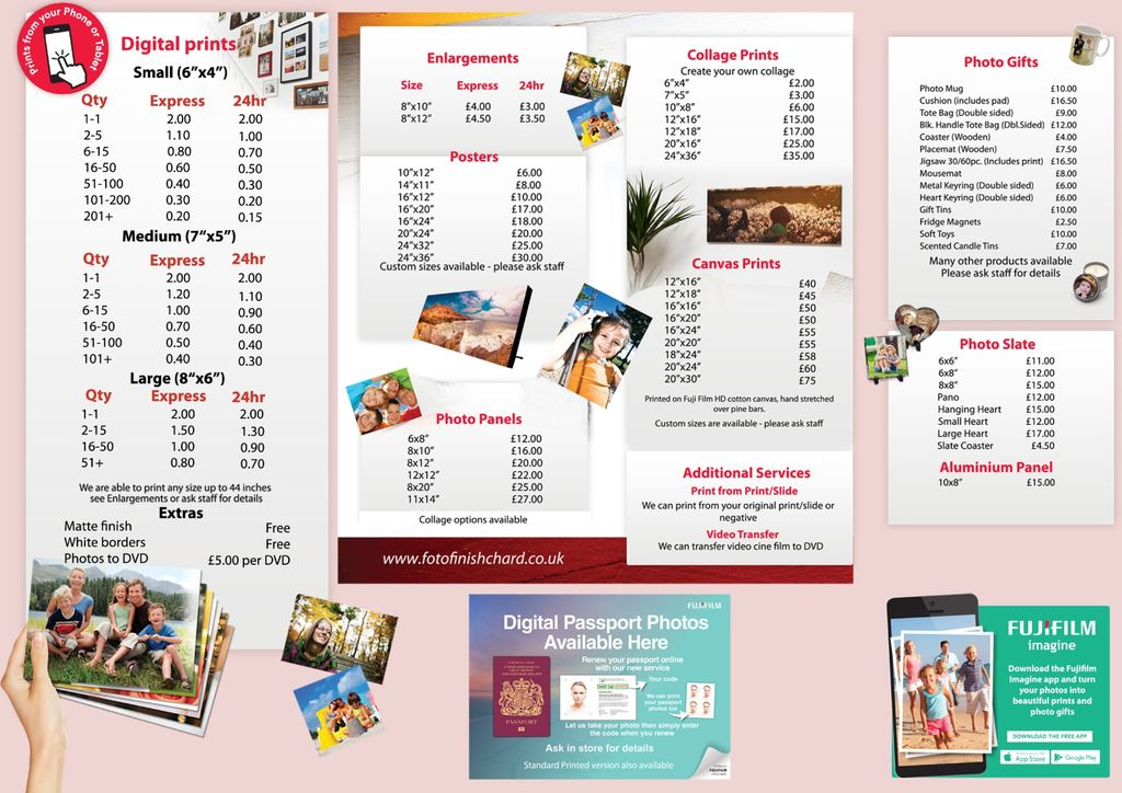 Foto Finsh: Products/Price List