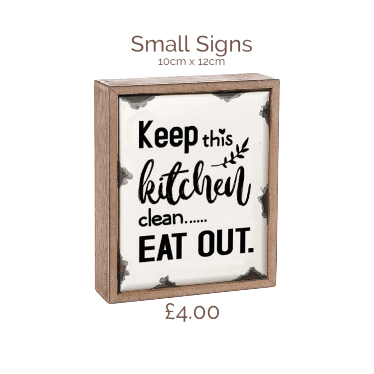 Eat out sign