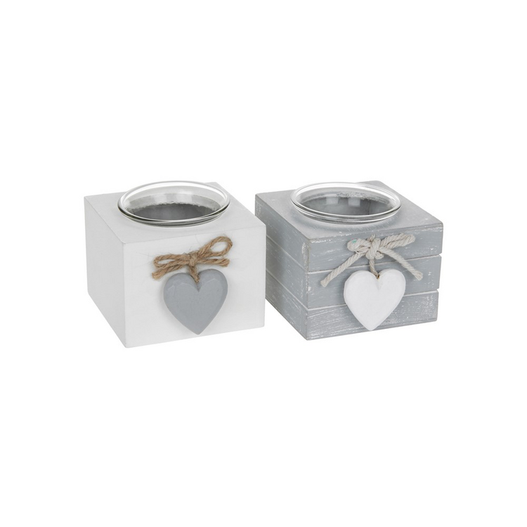 Grey and White T-Light holders