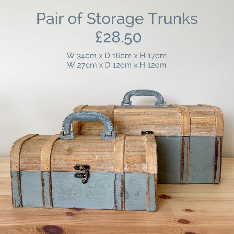 Storage trunks grey